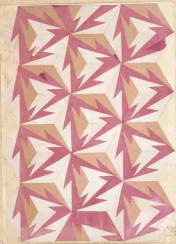 18-Fortunato Depero design drawing for a rug, 1927