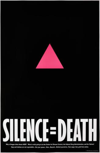 23-Silence = Death, 1987, ACT UP USA