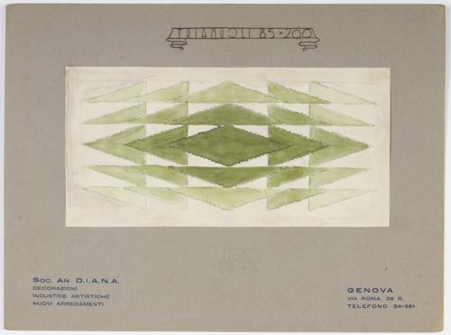 31-Mario Labo design drawing for a rug, Triangoli, 1928-29