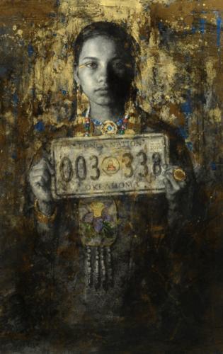 4*-Ponca Nation by Scott Burdick. Carlcoal and acrylic on paper, 36x24.Donald Teague Memorial Award, 2020
