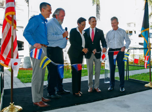 5*from the left Ben Soresen, Phill Purcell, Linda Mackey, Mayor Dean Trentalis, Andrew Doole Photo credits J.Christopher.
