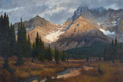 6-A Remnant of Wildness by Ralph Oberg. Oil on linen 32x48. Wilson Hurley Award for Outstanding Landscape, 2020