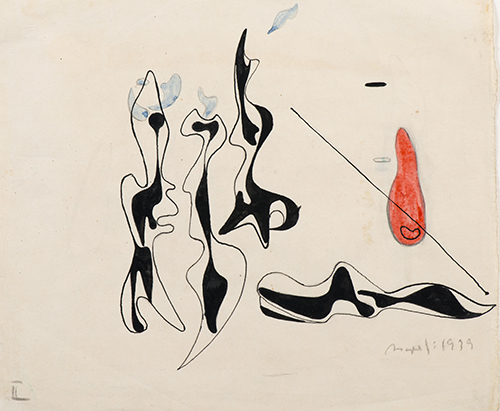 6-Asger Jorn, Illustration for Genia Katz Rajchmann's The Girl in the Fire1939