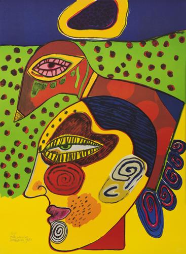 6*-Corneille, Pensive Head (Tête pensive), 1980