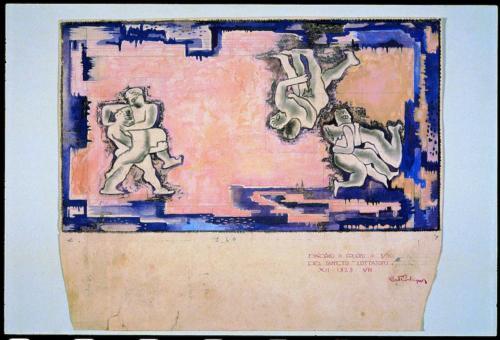 7-Alberto Bevilacqua, Lottatori, 1929