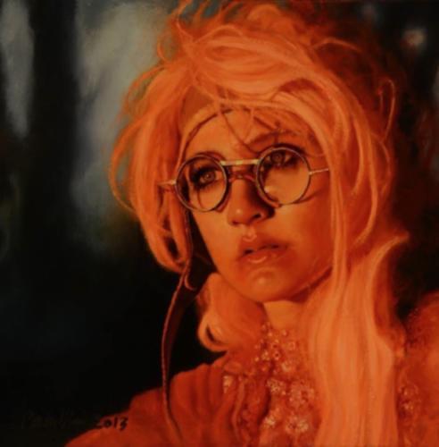 A Lithophantic Haze by Pamela Wilson, 2013. Oil on canvas, 12x12.