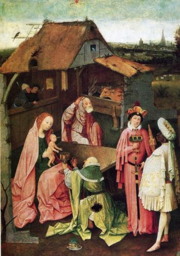 Adoration of the Magi by Hieronymus Bosch, 1500. Oil on panel. Philadelphia Museum of Art, Philadelphia, Pa, US