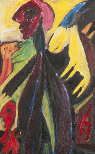 Carl-Henning Pedersen, Fairytale Picture (Eventyrbillede), 1943,