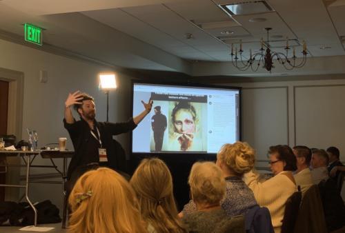 Casey Baugh lesson at pre-convention classes