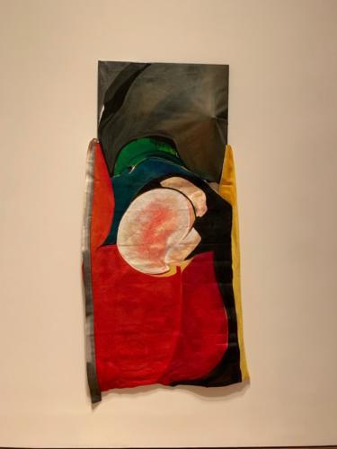 Clean Her Blood by María de los Angeles Rodríguez Jiménez, 2018. Oil and acrylic over feltand canvas.