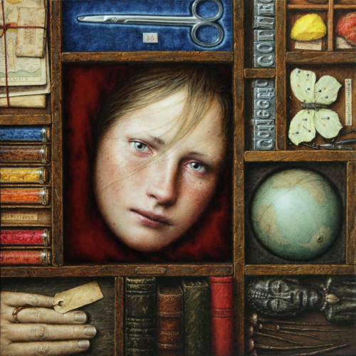 Collectio by Dino Valls, 2011Oil on wood, 35x35 cm.