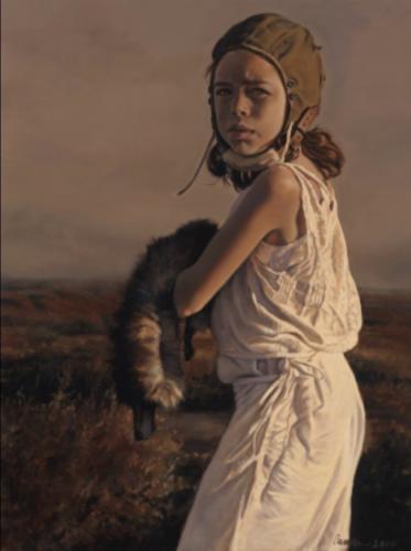 Damselfy by Pamela Wilson, 2010. Oil on canvas, 32x24.