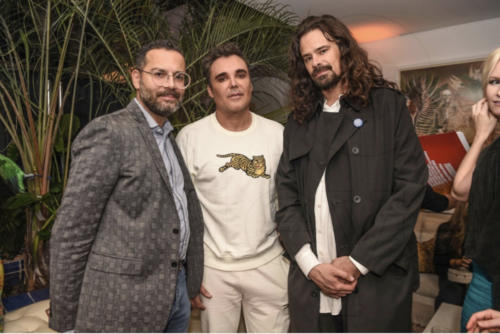 David Castillo, David LaChapelle & Ralph Nauta ((Photo Courtesy by worldredeye)