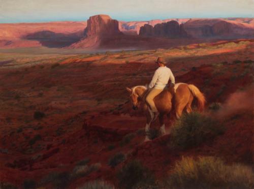 Descent by Joshua LaRock. Oil on linen.