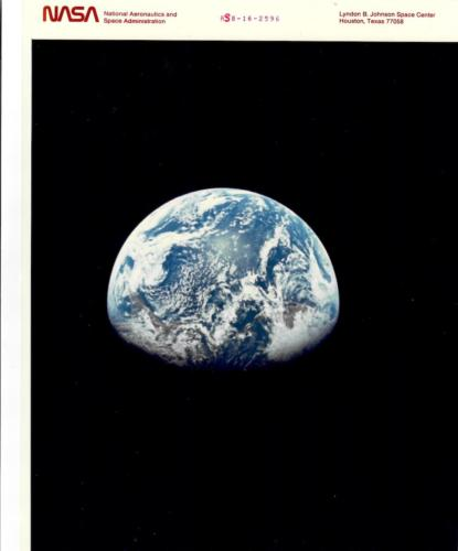 EARTH RISE VIEW FROM THE APOLLO 8, December 1960
