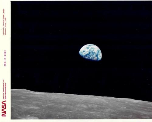 EARTH RISE VIEW FROM THE APOLLO 8, December, 1960NASA Photo Archive