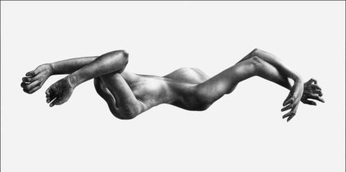 Elastic II, 2016, charcoal on canvas. 44x96 in