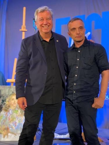 Eric Rhoads and the Russian painter Nikolai Blokhin