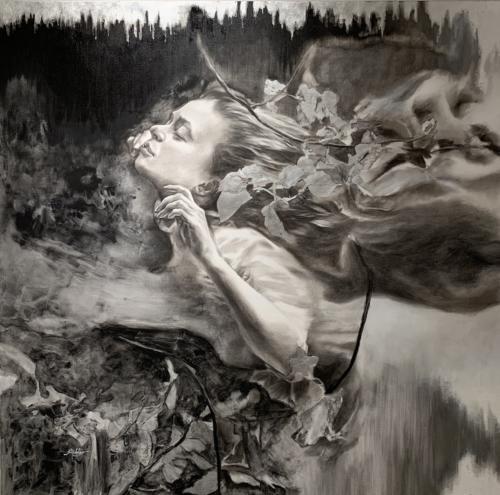 Etereal Symphony By Sonia Hidalgo. Mixed Media. 48 x 48.