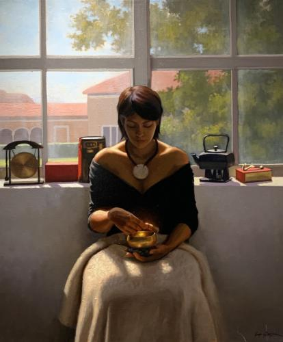 Feng Shui Girl by Elkin cañas. Oil on canvas. 44 x 36