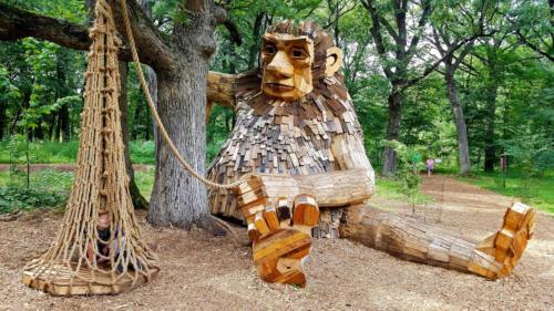 Furry Ema, Morton Arboretum, Chicago by Thomas Dambo, 2018.