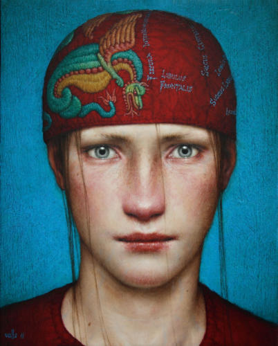 Intus by Dino Valls, 2011. Oil on wood, 25x20 cm.