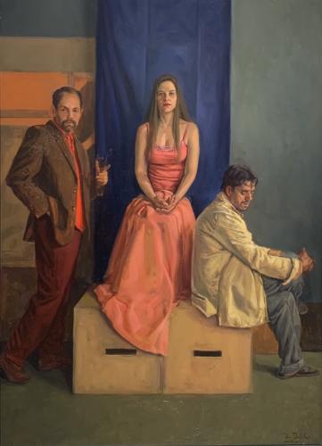 La Etad Dorata By Dario Ortiz. Oil on Canvas. 20 x 28