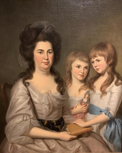 Louisa Airey Gilmor with Jane and Elizabeth by Charles Willson Peale, 1788 at The Colonial Williamsburgh Foundation