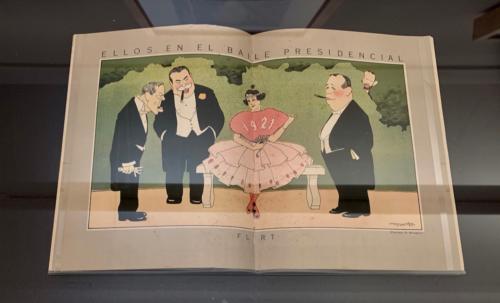 Magazine spread, Ellos en el baile presidencial, flirt (Those in the Presidencial Dance, Flirt) from Social, March 1920