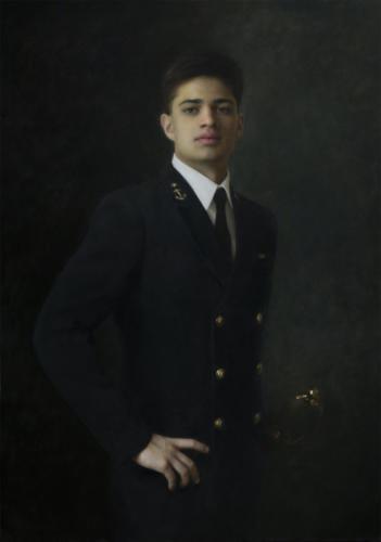 Midshipman, US Naval Academy by Joshua LaRock. Oil on linen, 42x30