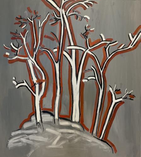 Modern Landscape, 2015, oil on canvas.78 3:4x70 7:8 in