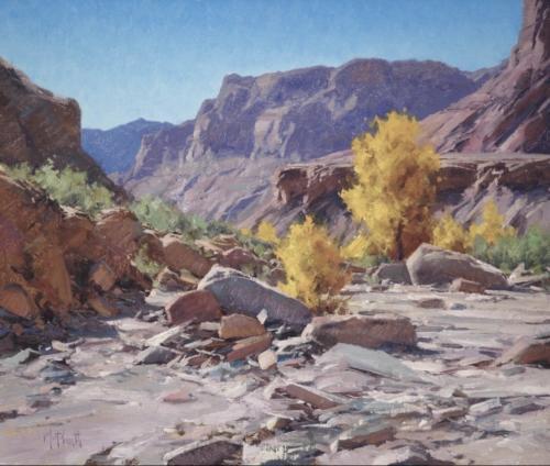 North Fork Creek by Matt Smith. Oil 20x26. Robert Laugheed Memorial Award