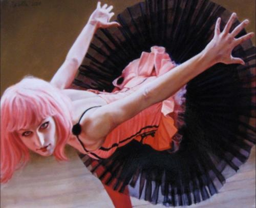 Orbits on Daisy by Pamela Wilson.2010. Oil on canvas, 16x20.
