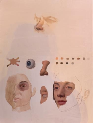 Painting from Scott Waddell demo, A Form-Based Approach to Painting Facial Features