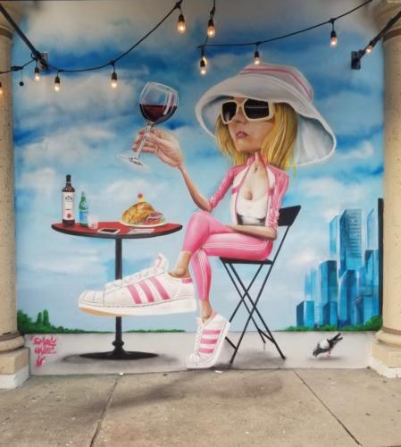 Pandorée Café by Smog-One, Winwood, Miami 2016 (side on NW 36th St)