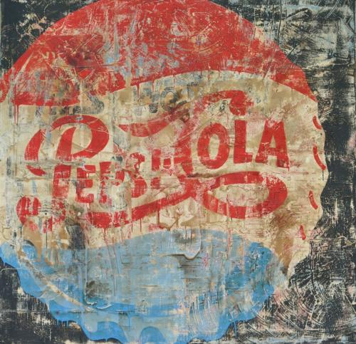 Pepsi Cola by Paolo De Cuarto, 2017. Mixed Media on Canvas. 180 x 180 cm