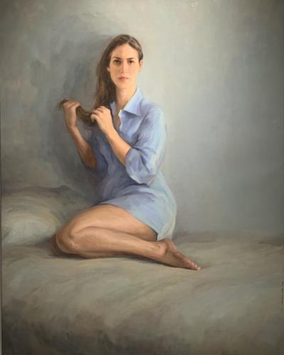 Quero Che Me Mires Come Te Miro Io by Carlos Martinez Leon. Oil on Linen. 54 x 43