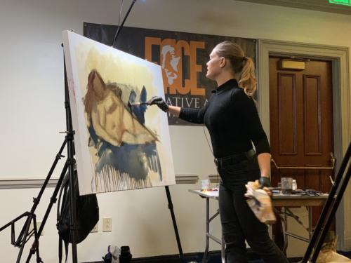 Reisha Perlmutter demo, Painting Women