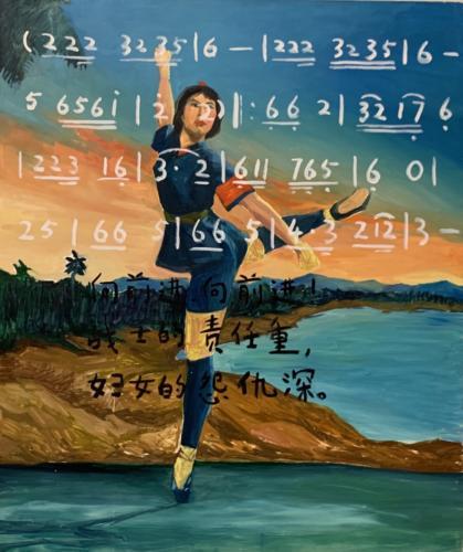 Revolution Ballet, 2007. Oil on canvas. 61 x 51 3:16 inches. Courtesy the artist. Courtesy of the artsit and Greene Naftali, New York