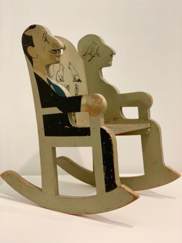 Rocking chair, Irwin M.Cassel, c1926, wood, paint.