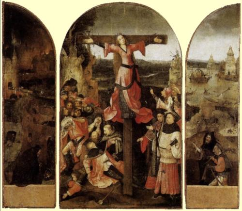 Santa Liberata Tripthyc by Hieronymus Bosch, 1500:1504. Oil on panel, 119x104 cm. Palazzo Ducale, Venice Italy
