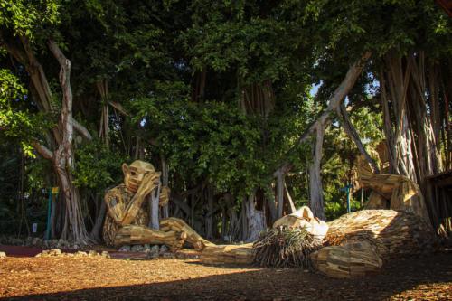 Terje, Bertha and the Banian Tree by Thomas Dambo, Pinecrest, Miami.
