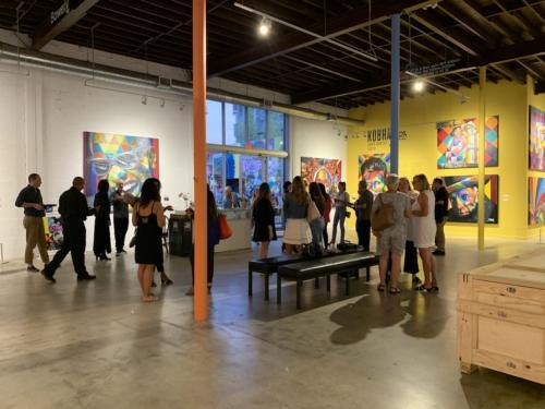 The Goldman Global Arts event, on Wynwood Waal.