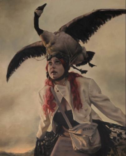 The Last Escapist by Pamela Wilson, 2011. Oil on canvas, 20x16.