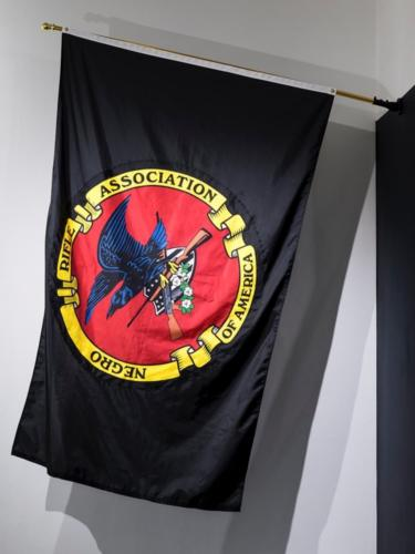 Thee Official Negro Rifle Association Flag by Mark Thomas Gibson.Print on Nylon