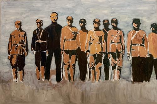 There Is An America, 2007. Oil on canvas. 78 3:4 x 118 1:8 inches. Pizzuti Collection
