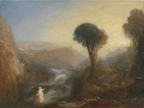 Tivoli, Tobias and the Angel, by J.M.W. Turner ca. 1835. Oil on canvas, 35 5:8 x 47 5:8Tate accepted by the nation as part of the Turner Bequest 1856