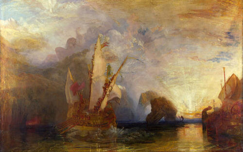 Ulysses Deriding Polyphemus by J.M.W.Turner, 1829. Oil on canvas. The National Gallery.