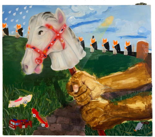 Untitled (horse with no name) by Pat Phillips, 2019. 36x41