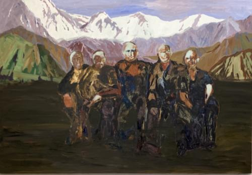 Utopia Intention, 2011, oil on canvas. 70 1:2x 104 3:4 in. Wei and John Chrstianson